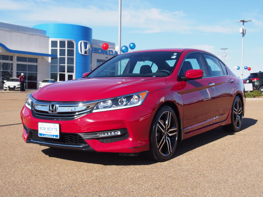 certified pre owned 2016 honda accord sport w honda sensing sport 4dr sedan w honda sensing in. Black Bedroom Furniture Sets. Home Design Ideas